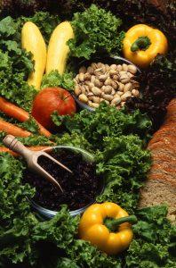Warzywa, owoce, orzechy, grzyby ro?liny str?czkowe ? podstawa wegetaria?skiej diety